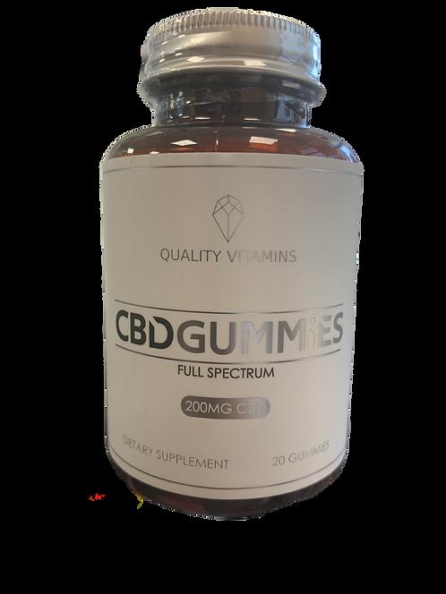 Quality Vitamins CBD Gummies 200 10mg 20 Gummies