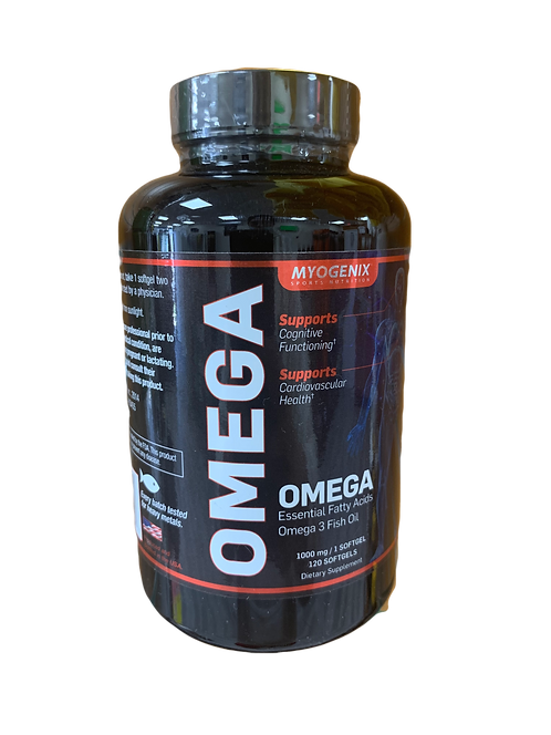 Myogenix Sports Omega 3 Fish Oil 120 Caps