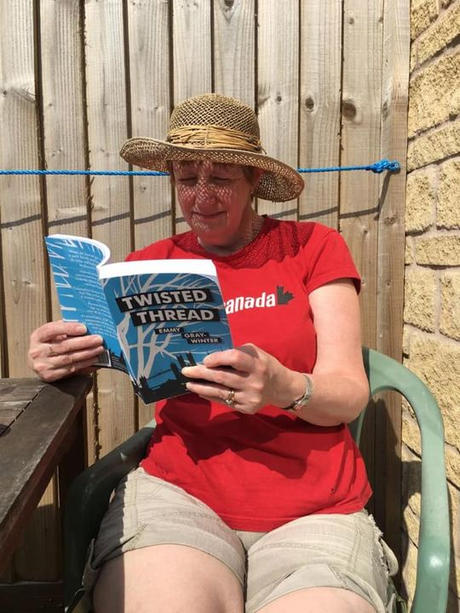 Happy reader in  lockdown