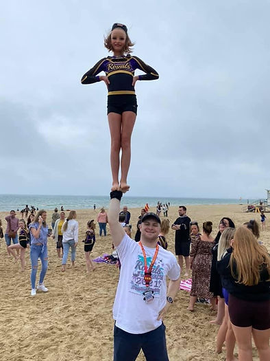 Beach fun after competing.JPG