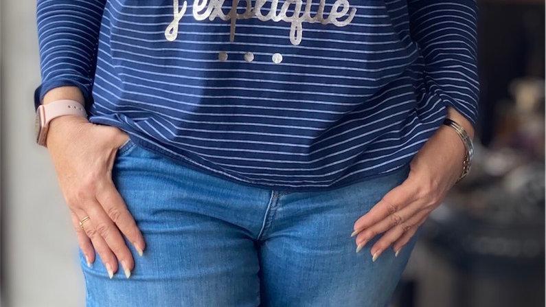 T-shirt  bleu Vanessa