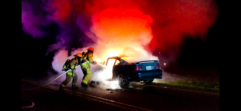 Contentnea FD Car Fire with red and prup