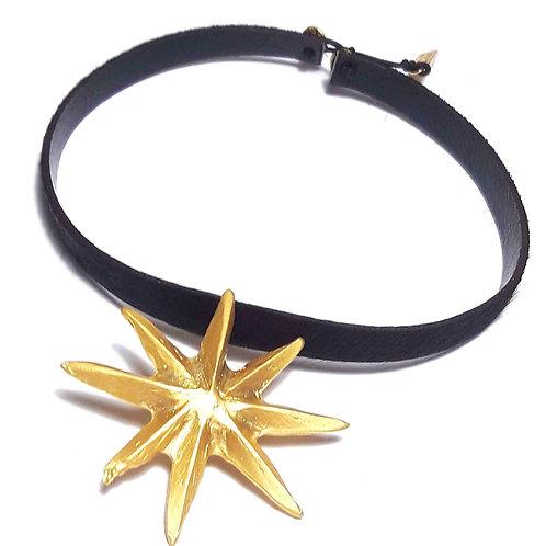 Collar Choker estelar or