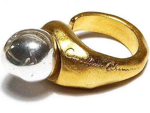 Anillo serpiente oro /plata