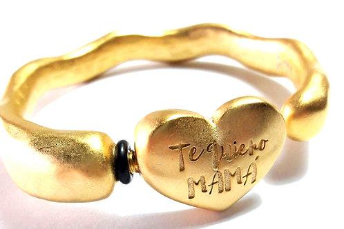 Pulsera Te quiero mamá or