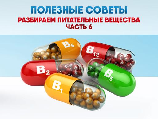ПОЛЕЗНЫЕ СОВЕТЫ: Разбираем питательные вещества. Часть 6