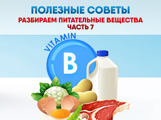 ПОЛЕЗНЫЕ СОВЕТЫ: Разбираем питательные вещества. Часть 7