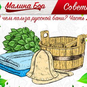 Советник от Малина Бора: В чем польза русской бани? Часть 2