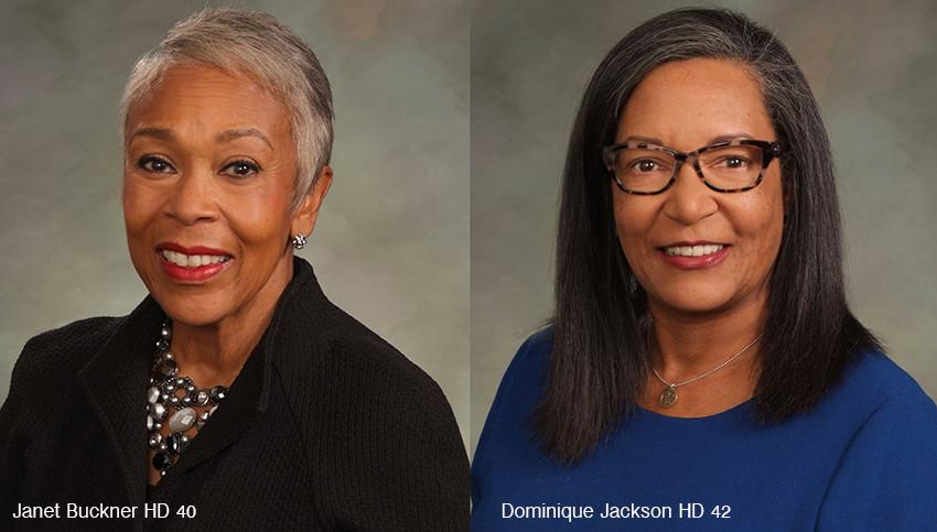 Rep. Janet Buckner and Rep. Dominique Jackson