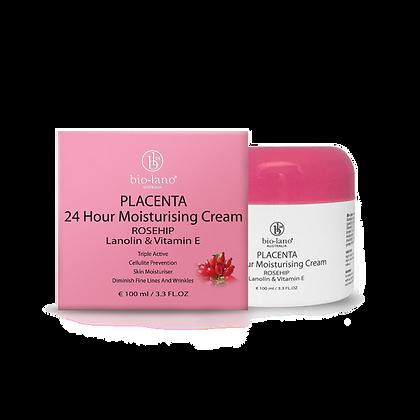 Placenta 24 Hour Moisturising Cream Rosehip Lanolin & Vitamin E