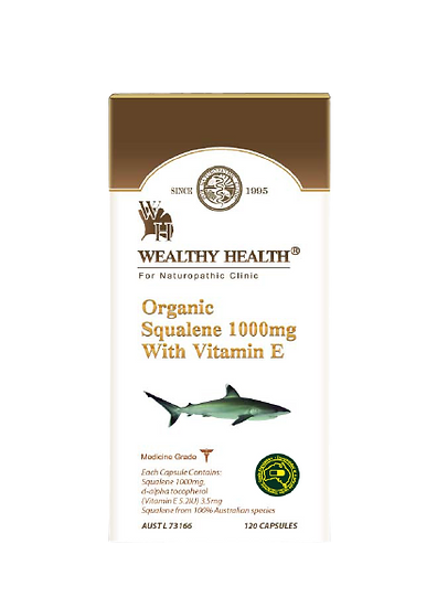 Organic Squalene 1000mg with Vitamin E