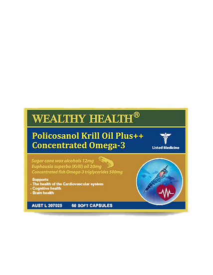 Policosanol Krill Oil Plus Concentrated Omega 3 Soft Capsules
