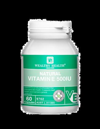 Natural Vitamin E Antioxidant Capsules 500IU