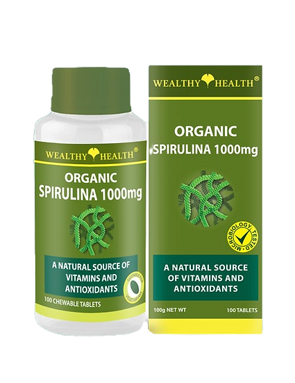 Organic Spirulina Chewable Nutrient Tablets 1000mg