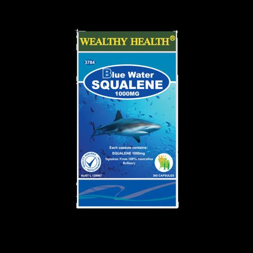 Blue Water Wealthy Health Squalene Antioxidant 1000mg