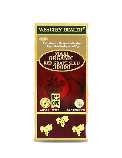 Maxi Organic Red Grape Seed Capsules 30000 95%OPC