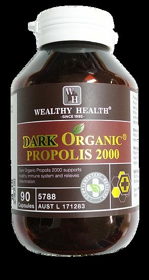 Dark Organic Propolis Capsules 2000 90 Capsules