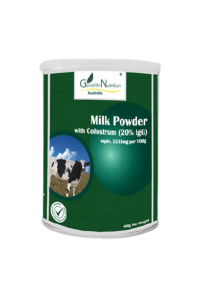 Milk Powder with Colostrum 20%IgG equiv to 3333mg per 100g