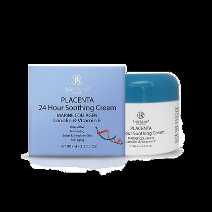 Placenta 24 Hour Moisturising Cream Collagen Lanolin & Vitamin E