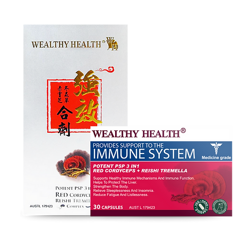 Potent PSP 3 in 1 Red Cordyceps + Reishi Tremella Complex Immune Support