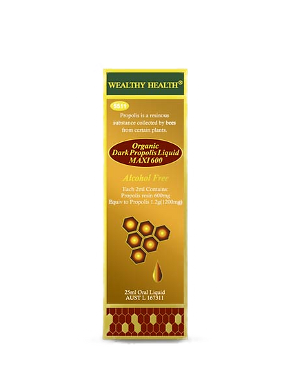 Organic Dark Propolis Liquid Maxi 600
