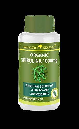 Organic Spirulina Chewable Nutrient Tablets 1000mg