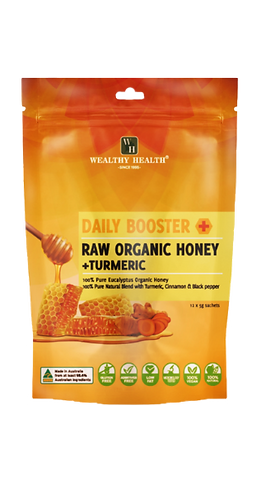 Daily Booster Raw Organic Honey + Turmeric Sachets