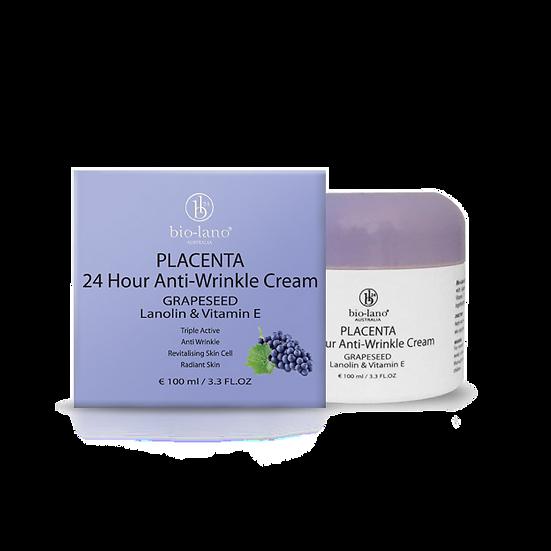 Placenta 24 Hour Moisturising Cream Grapeseed Lanolin & Vitamin E