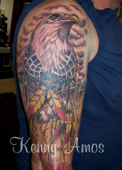 Eagle and Feathers