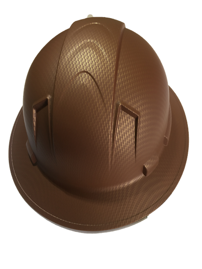 full brim hard hat - copper