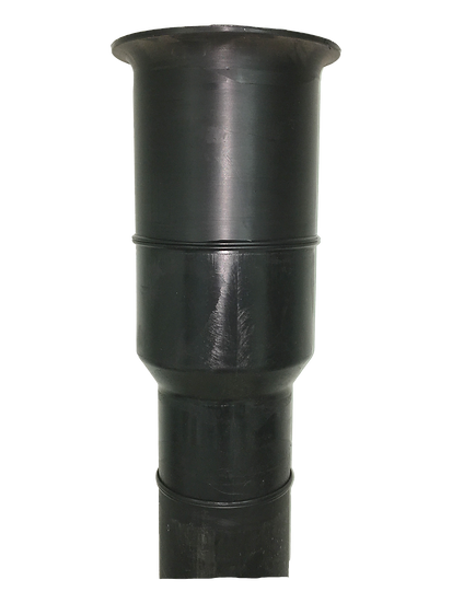 """6' poly dig tube 8""""- 6"""" reducer"""