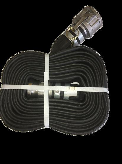 """2""""x25' rubber runflat hose (cam-lock fittings)"""