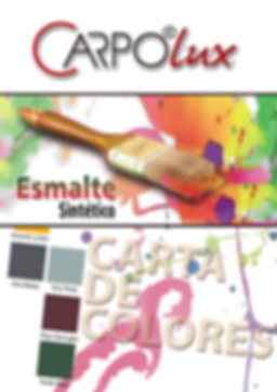 página de carta de colores de pintura