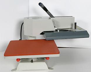 foto del Mod. T 38 con palanca y plancha, prensa para transfer en plano