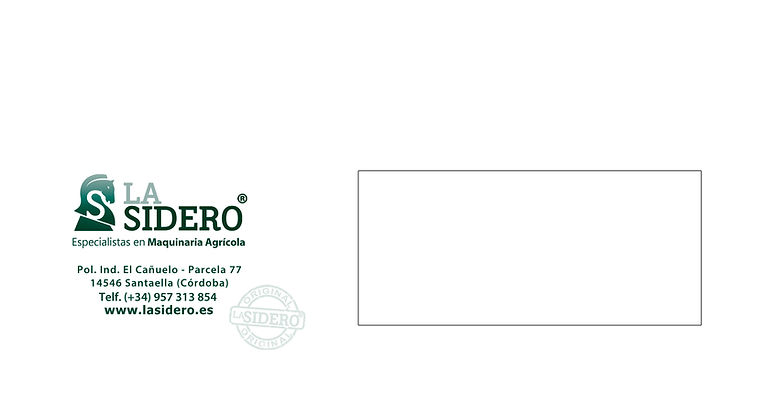 sobre para correo postal de La Sidero
