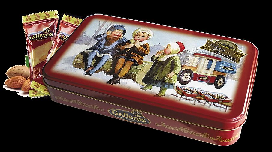 envase de lata con dulces de navidad de Galleros Artesanos