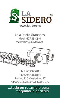 tarjeta de visita recambios La Sidero