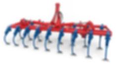 vibro cultivador con brazo tipo chisel de 25x25 mm en dos hileras