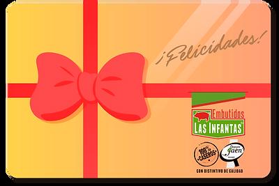 Tarjeta regalo de embutidos las infantas