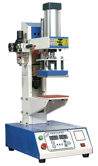 foto con prensa automática y neumática Modelo TN2 para transfer plano