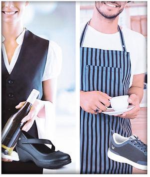 profesionales con calzado ergonómico de seguridad