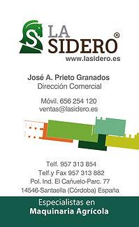 tarjeta de visita La Sidero