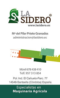 tarjeta de visita La Sidero administración