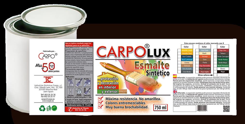 etiqueta para lata de pintura Carpolux