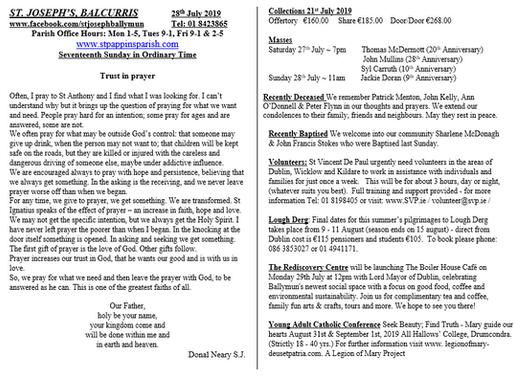 Parish Newsletter