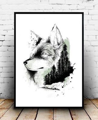 Affiche-illustration-loup