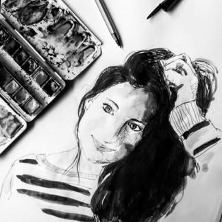 illustration-autoportrait-aqurelle