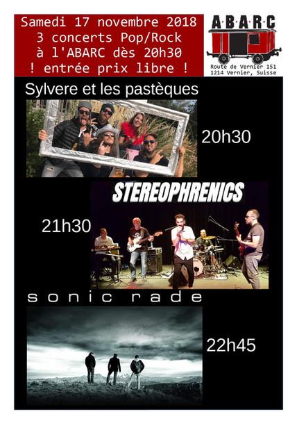 Live @ABARC  Samedi 17 novembre 2018 dès 20h30 Route de Vernier 151, 1214 Vernier