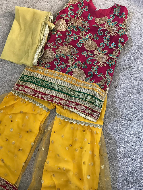 Gharara suit (size 28)