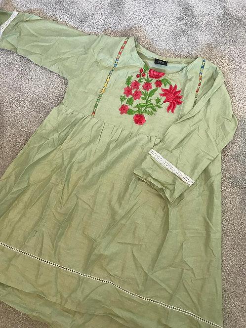 Light green kurta (7-8 years)
